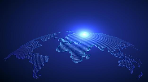 3d-erdgrafik, die illustration des globalen handels symbolisiert.