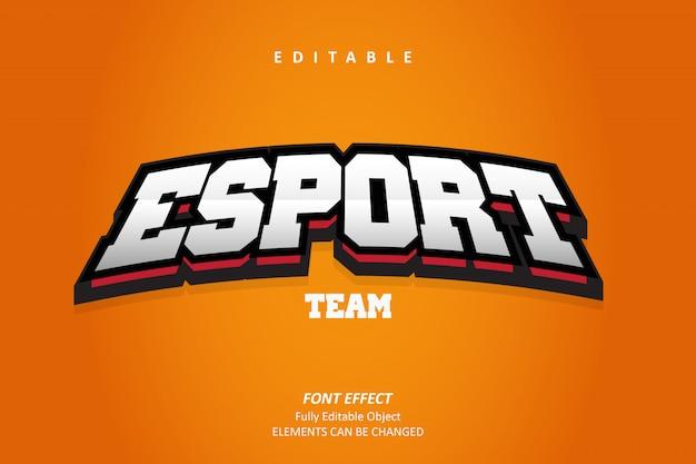 3d esport emblem text effekt premium