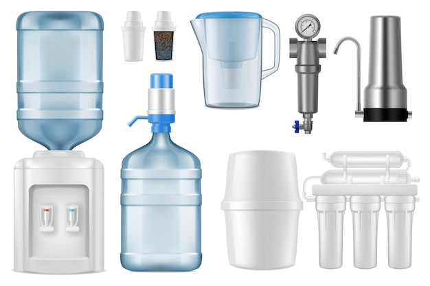 3d-filterkrug und reinigungssystem der umkehrosmose mit lagertank