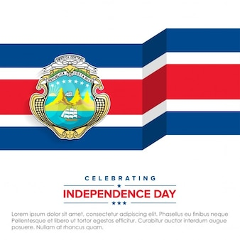 3d flagge feiern costa rica-unabhängigkeitstag