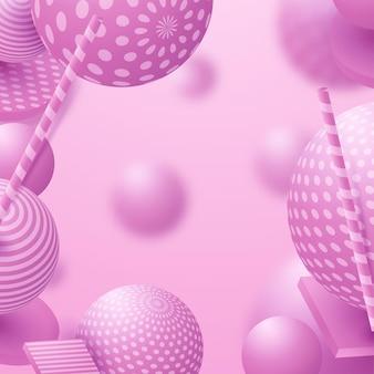 3d fließende kugeln. abstrakte vektorgrafik von bunten blasen oder kugeln. modernes trendiges konzept. dynamisches dekorationselement. futuristisches poster- oder coverdesign