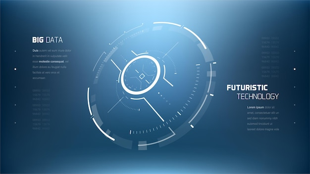 3d futuristic technology circle elemente.