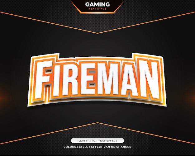 3d gaming text style für e-sport team identität oder aufkleber