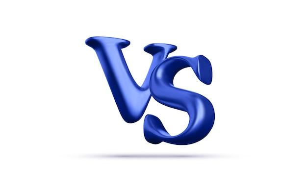 3d gegen kampfüberschrift. wettkämpfe zwischen teilnehmern, kämpfern oder teams. vektor-illustration