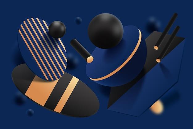 3d geometrische formen hintergrund