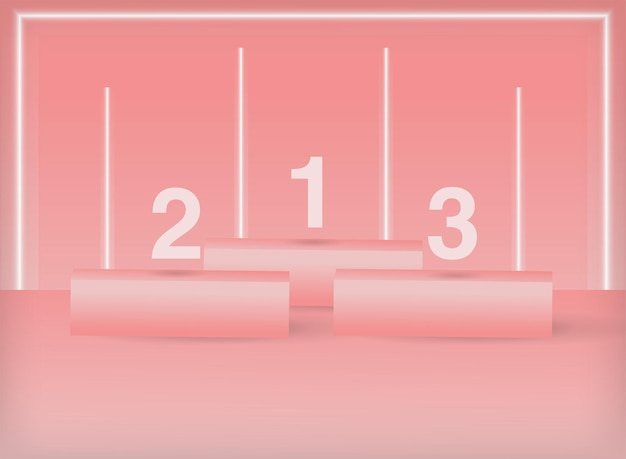 3d geometrisches pastellrosa-podium minimale bühnenszene für produktplatzierung