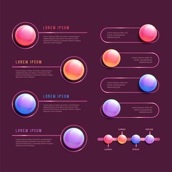 3d glänzende infografik