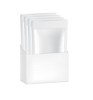 3d glossy sachet bag mit papierbox