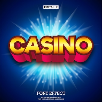 3d glühendes kasinotextlogo mit feuer bearbeitet hintergrund