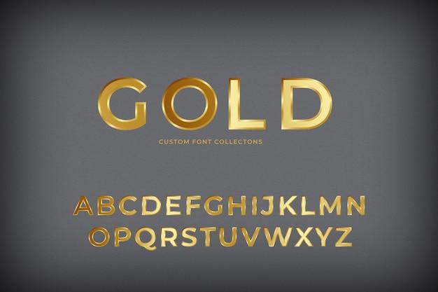 3d gold schriftart