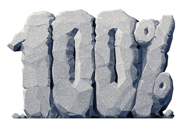 3d grauer stein 100 prozent