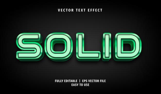 3d grüner fester texteffekt, bearbeitbarer textstil