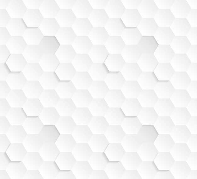 3d hexagons white abstract seamless pattern. science technology hexagonal blocks struktur licht konzeptionelle repetitive wallpaper. dreidimensionaler klarer, subtiler, strukturierter, kippbarer hintergrund