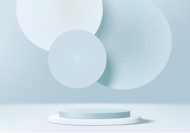 3d-hintergrundprodukte zeigen podiumszene mit geometrischer plattform an