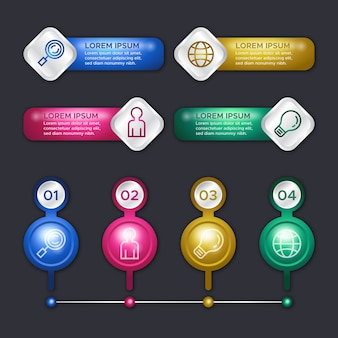 3d-hochglanz-infografiken-vorlagenkonzept