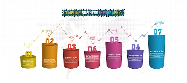 3d-infografik-elemente oder diagramme des bildungsgeschäfts