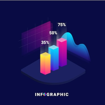 3d isometrische infografik