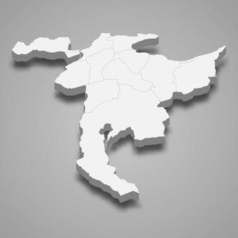 3d isometrische karte von nidwalden ist ein kanton der schweiz