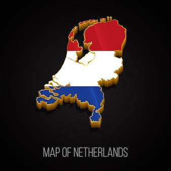 3d-karte der niederlande
