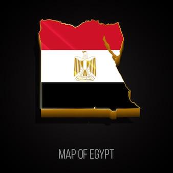 3d-karte von ägypten