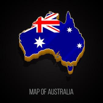 3d-karte von australien