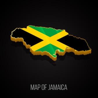 3d-karte von jamaika