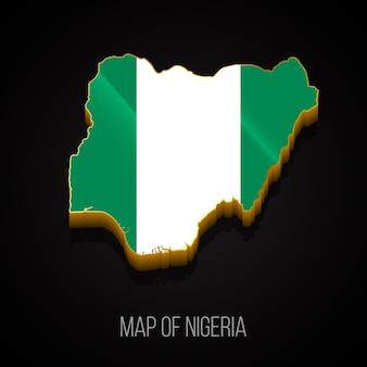 3d-karte von nigeria