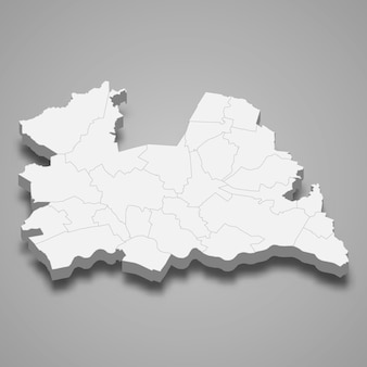 3d-kartenprovinz der niederlande