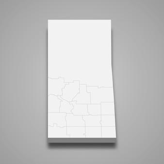 3d-kartenprovinz von kanada