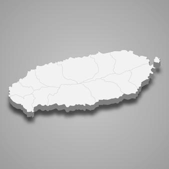 3d-kartenregion von südkorea