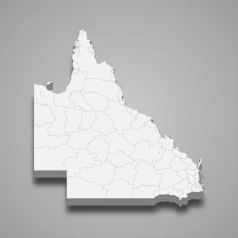 3d-kartenstaat australien