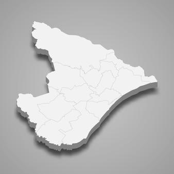 3d-kartenstaat brasilien