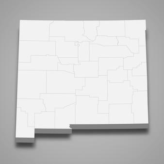 3d-kartenstaat der vereinigten staaten