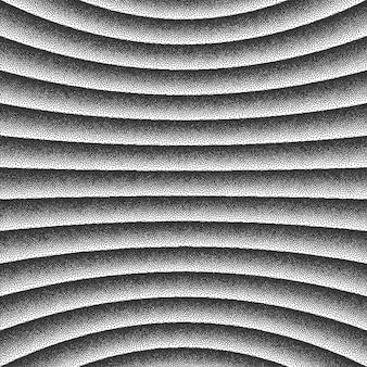 3d konkave gekrümmte linien retro dotwork hintergrund