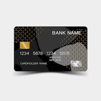 3d-kreditkartenvorlage luxuriöse bearbeitbare vektor-design-illustration eps10