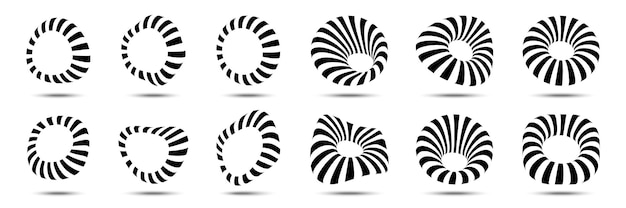 3d kreisförmige gestreifte rahmen eingestellt.