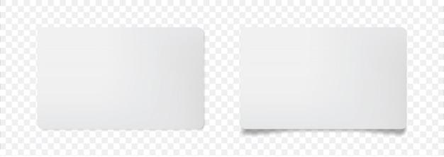 3d mock up leere weiße karte auf transparent