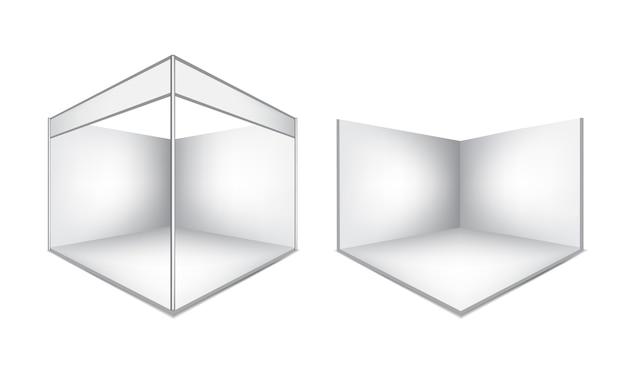 3d mock up realistische messestand für veranstaltung