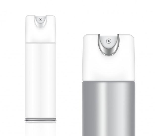 3d mock up realistische metall und weiße hautpflege und kosmetik