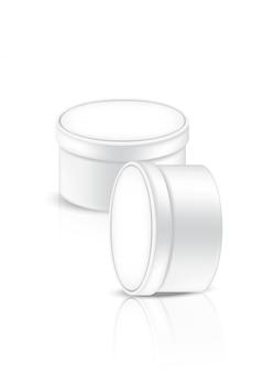 3d mock up realistische schale mit hautpflegeprodukten