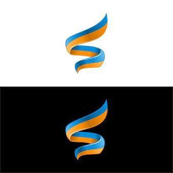 3d modernes logo des buchstaben s kostenloser download