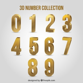 3d-nummer sammlung