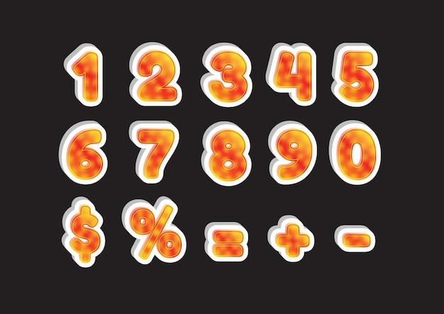 3d orange zahlen gesetzt