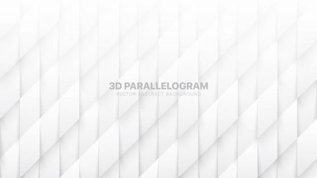 3d parallelogramme muster technologischer weißer abstrakter hintergrund
