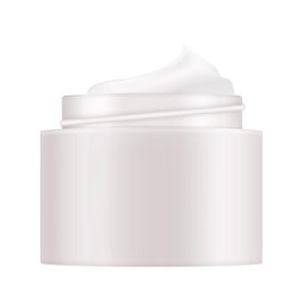 3d realistic natural beauty kosmetikprodukt für die gesichtspflege isoliert