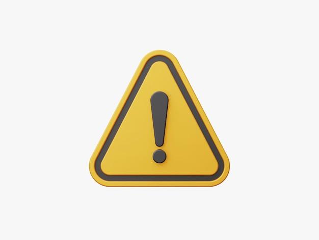 3d realistische gelbe dreieck warnzeichen vorderansicht vektor-illustration.