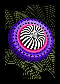 3d realistische vektorformen. volumetrisches helles spielzeug von ungewöhnlicher form.