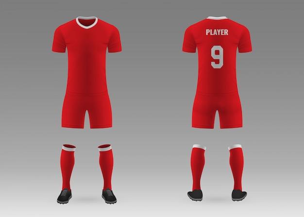 3d realistische vorlage fußball-kit