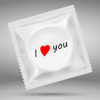 3d realistische weiße leere vorlage verpackung von kondomen.