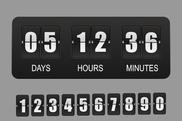 3d realistischer countdown-timer. uhr umdrehen